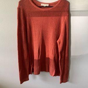 LOFT Sweaters - LOFT | Waffle knit sweater in burnt orange